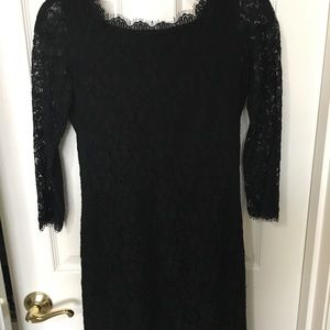 Black lace dress. Brand: Diane Von Furstenberg